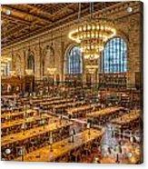 New York Public Library Main Reading Room Ix Acrylic Print
