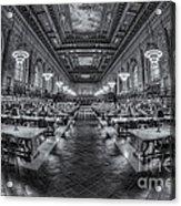 New York Public Library Main Reading Room Viii Acrylic Print