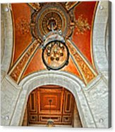 New York Public Library Ornate Ceiling Acrylic Print
