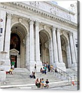 New York Public Library Acrylic Print