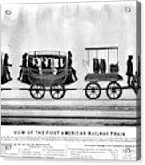 New York Railroad, 1832 Acrylic Print