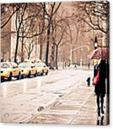 New York Rain - Greenwich Village Acrylic Print