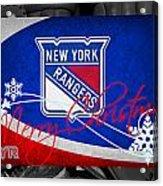New York Rangers Christmas Acrylic Print