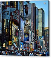 New York Rush Hour Acrylic Print