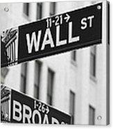 New York Signs Acrylic Print