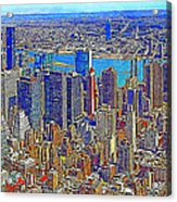 New York Skyline 20130430 Acrylic Print by Wingsdomain Art and Photography