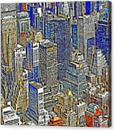 New York Skyline 20130430v5-square Acrylic Print