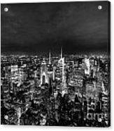 New York Skyline 3bw Acrylic Print