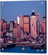 New York Skyline At Dusk Acrylic Print
