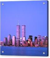 New York Skyline Before 11th September Acrylic Print