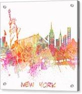 New York Skyline City Acrylic Print