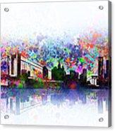New York Skyline Splats 2 Acrylic Print