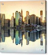New York Skyline Sunset Acrylic Print