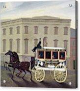 New York Stagecoach Acrylic Print