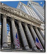 New York Stock Exchange Wall Street Nyse  Acrylic Print