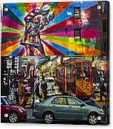 New York Street Scene Acrylic Print