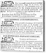 New York Sun, 1833 Acrylic Print