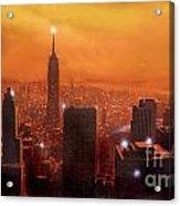 New York Sunset Acrylic Print by Steve Crisp