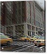 New York Taxi Abstract Acrylic Print