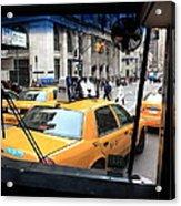 New York Taxi Cabs Acrylic Print