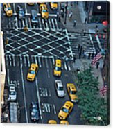 New York Taxi Rush Hour Acrylic Print