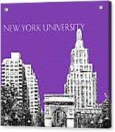 New York University - Washington Square Park - Purple Acrylic Print