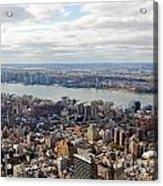 New York View Towards Jersey Acrylic Print