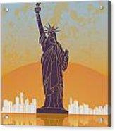 New York Vintage Poster Acrylic Print