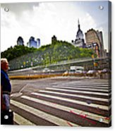 New York - Waiting... Acrylic Print by Amador Esquiu Marques