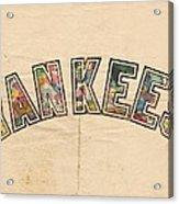 New York Yankees Poster Art Acrylic Print