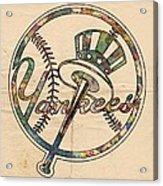 New York Yankees Poster Vintage Acrylic Print