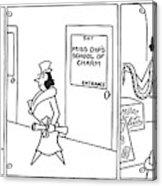 New Yorker April 18th, 1942 Acrylic Print