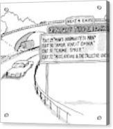 New Yorker April 30th, 1990 Acrylic Print