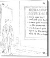 New Yorker January 10th, 1977 Acrylic Print