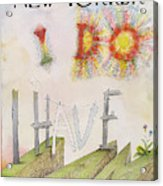 New Yorker July 31st, 1971 Acrylic Print