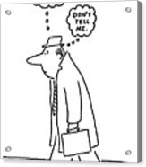 New Yorker June 20th, 1977 Acrylic Print by Charles Barsotti