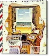New Yorker Magazine Cover Of A Bedroom By The Sea Acrylic Print