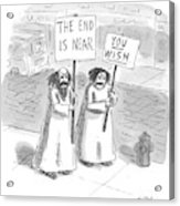 New Yorker May 19th, 1997 Acrylic Print by Roz Chast