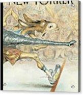 New Yorker November 20th, 2000 Acrylic Print by Peter de Seve