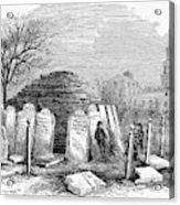 Newark Cemetery, 1876 Acrylic Print