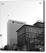 Newark  New Jersey In Black And White Acrylic Print