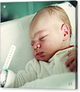 Newborn Boy. First Day Acrylic Print