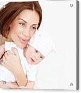 Newborn Healthy Infant With Mom Acrylic Print by Anna Om