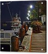 Newburyport Docks Full Moon Acrylic Print