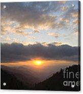 Newfound Gap Sunrise - D008233 Acrylic Print