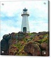 Lighthouse On Cliff Acrylic Print