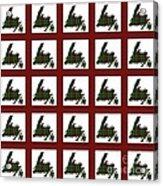 Newfoundland Tartan Map Blocks Red Trim Acrylic Print
