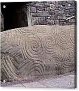 Newgrange Entrance Kerb Acrylic Print