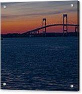 Newport At Sunset Acrylic Print