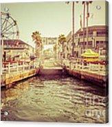 Newport Beach Balboa Island Ferry Dock Photo Acrylic Print by Paul Velgos